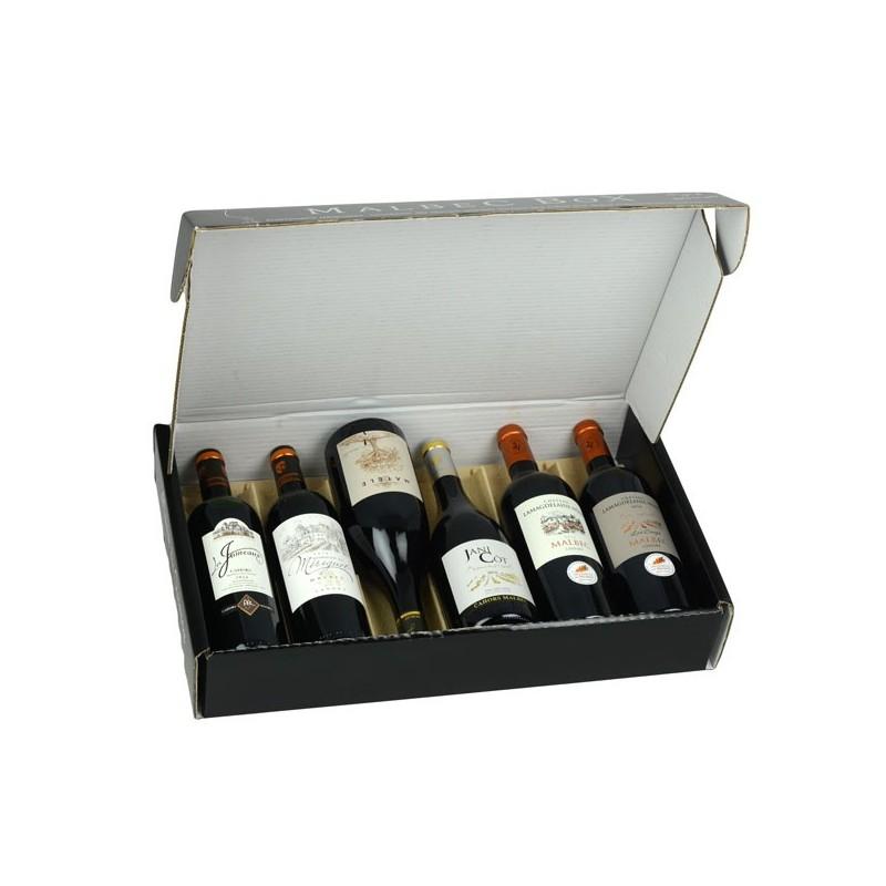Coffret dégustation de 6 bouteilles de vin de Cahors