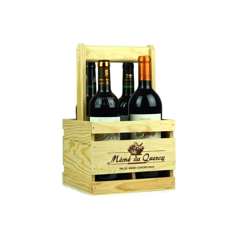 Le Panier dégustation de 4 bouteilles de vin de Cahors