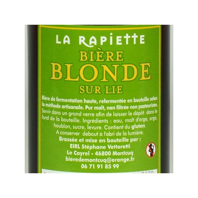 Bières de Montcuq - La Rapiette Blonde - 33 cl