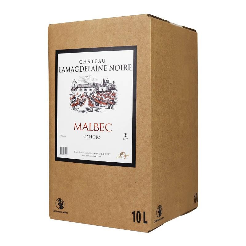 BIB de 10 litres de vin de Cahors AOC Château Lamagdelaine Noire Malbec