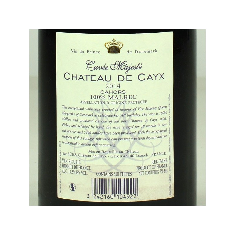 Château de Cayx - Cuvée Majesté 2014