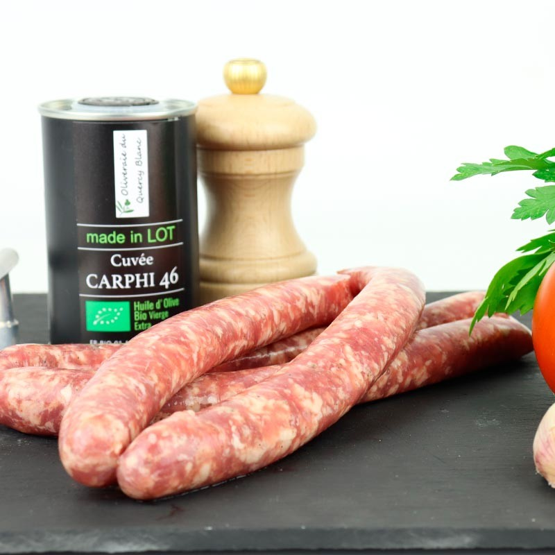 Chipolatas d'Agneau Fermier du Quercy Label Rouge direct producteur