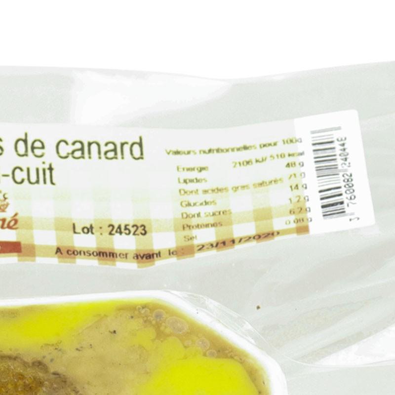 Valeurs nutritionnelles du foie gras de canard aux figues