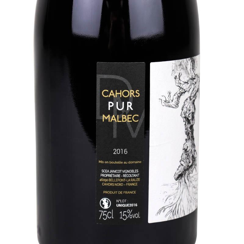 étiquette du grand mériguet 2016 vin de cahors AOC