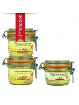 Promotion 3 foie gras de canard du sud ouest entier mi-cuit