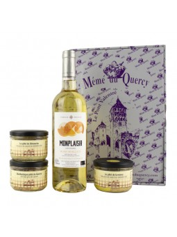 Tradition du Quercy Blanc coffret gourmand produit du terroir vin blanc et pâtés