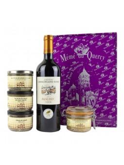 La réserve de Mémé coffret gourmand du sud ouest vin pâtés et foie gras