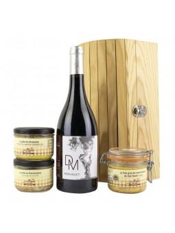 Le fabuleux Festin coffret gourmand du terroir avec vin pâtés et foie gras