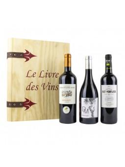 Le Livre des Vins Prestiges coffret 3 bouteilles dégustation de vin de Cahors aoc