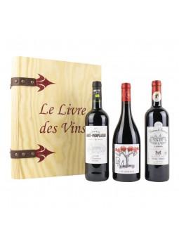 Le Livre des Vins Traditions un coffret dégustation de 3 bouteilles de vin de Cahors aoc