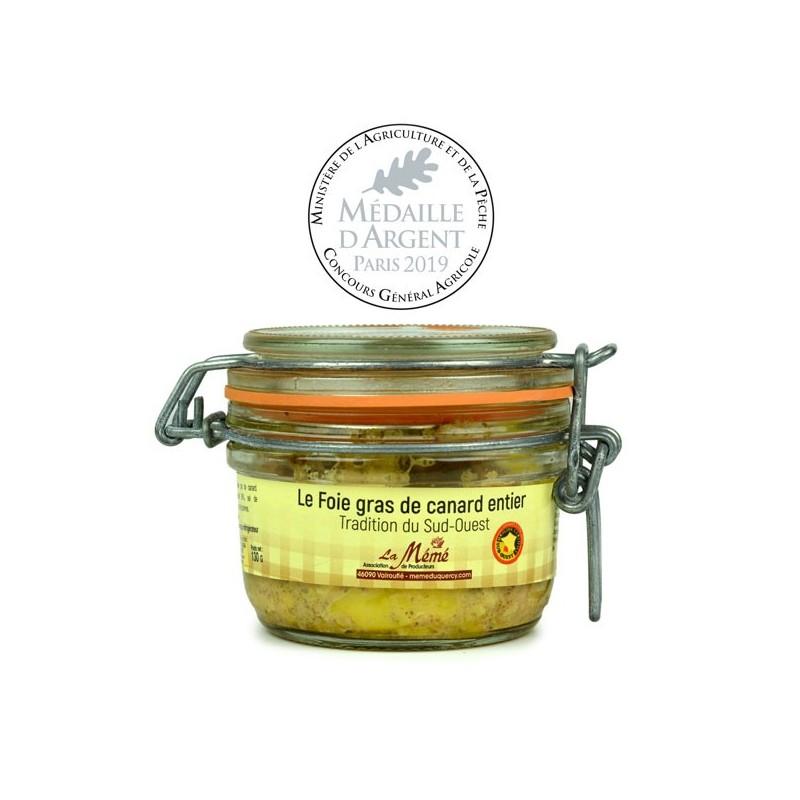 Foie gras de canard entier conserve Médaillé - 130 gr