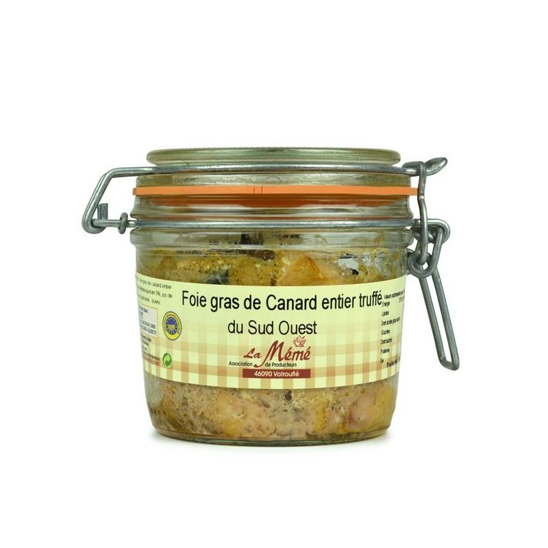 Foie gras de canard entier truffé conserve du Sud Ouest