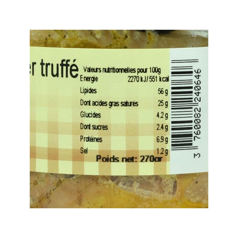 Foie gras de canard entier truffé conserve - 270 gr