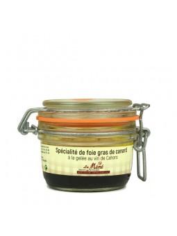 Foie gras de canard entier à la gelée au vin de Cahors - 120 gr