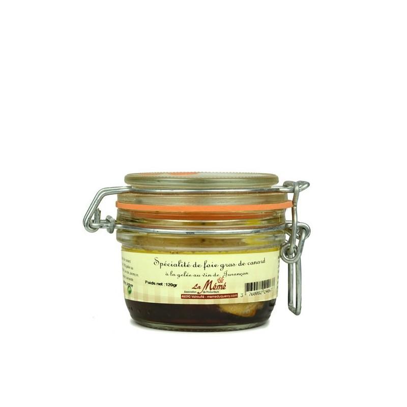 Foie gras de canard entier à la gelée au vin de Jurançon - 120 gr