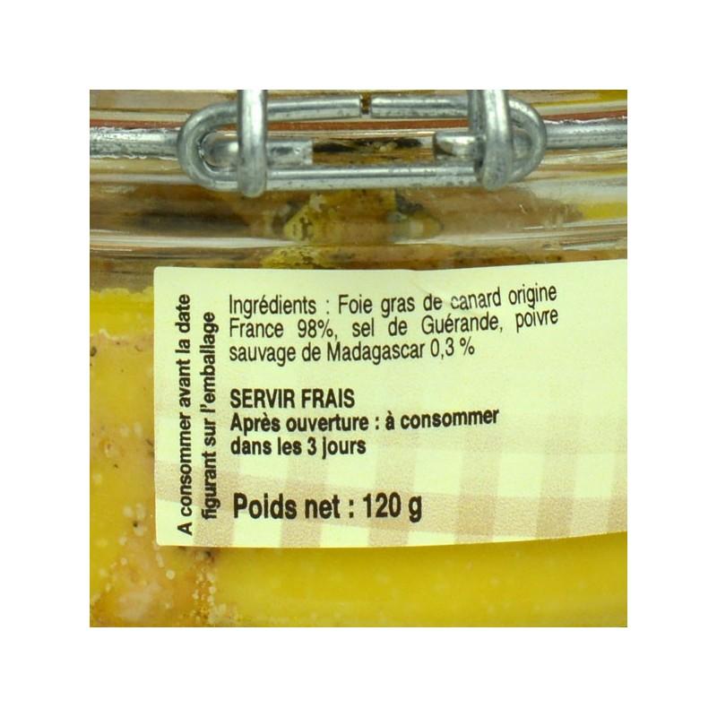 Foie gras de canard entier au poivre sauvage de Madagascar - 120 gr