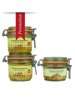 Promotion 2 foie gras de canard entier et 1 au poivre sauvage conserve - 480 gr
