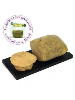 Lobe de foie gras de canard du sud ouest entier mi-cuit poché - 400 gr