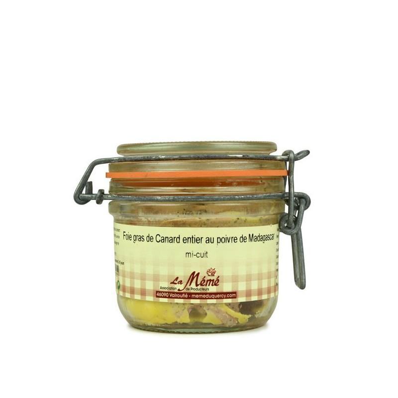 Foie gras de canard entier mi-cuit au poivre Sauvage - 180 gr