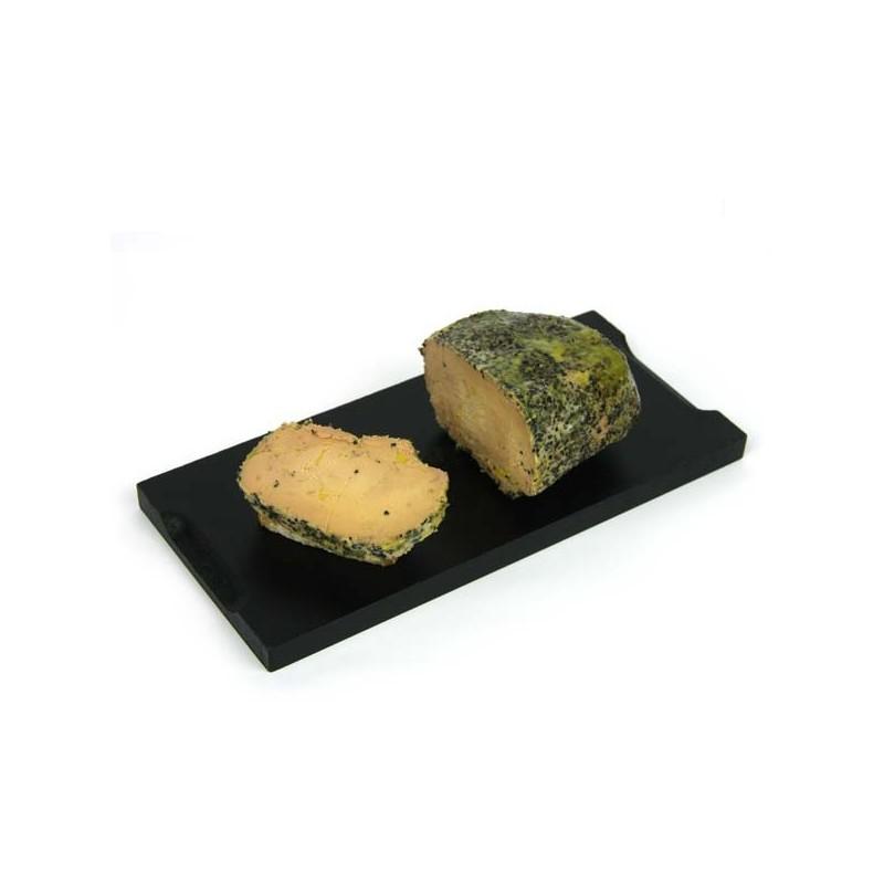 1/2 lobe de foie gras de canard entier mi-cuit au Poivre - 190 gr