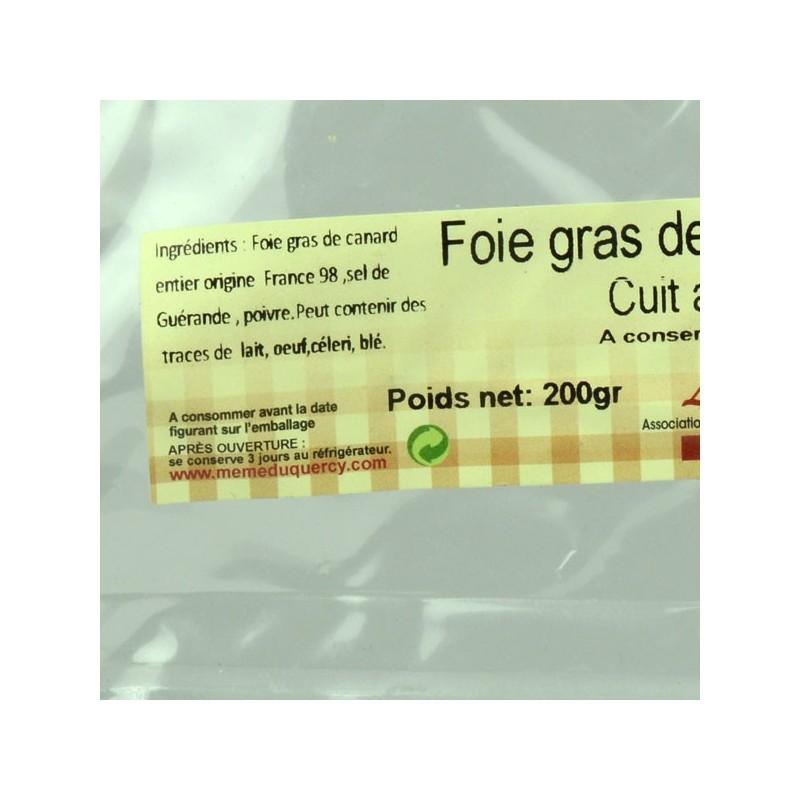 Foie gras de canard entier mi-cuit au torchon - 200 gr