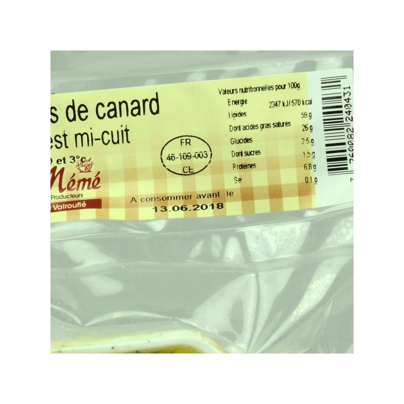Terrine de foie gras de canard entier mi-cuit du Sud-Ouest - 230 gr