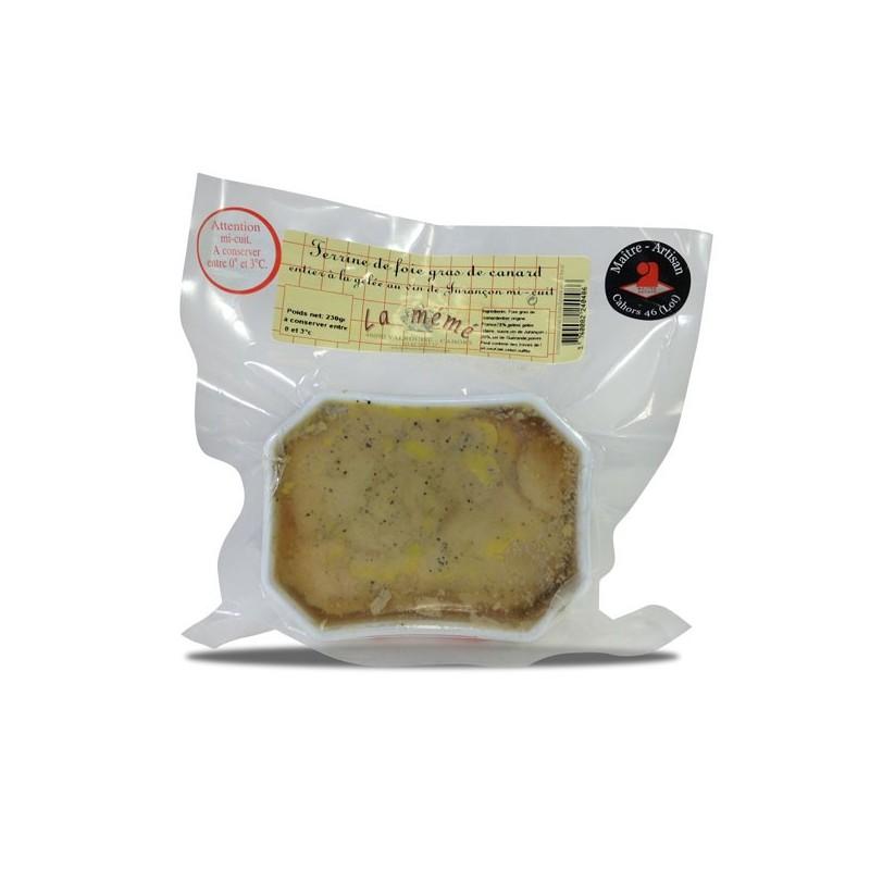 Terrine de foie gras de canard entier mi-cuit aux vins Jurançon - 230 gr
