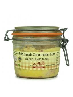 Foie gras de canard du Sud Ouest entier mi-cuit à la truffe