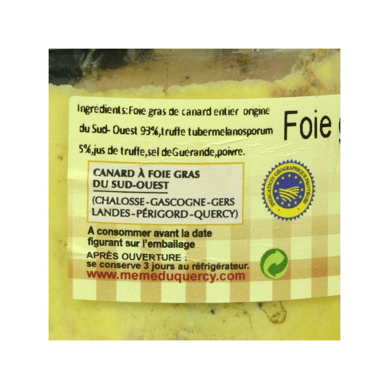 Foie gras de canard entier mi-cuit truffé - 270 gr