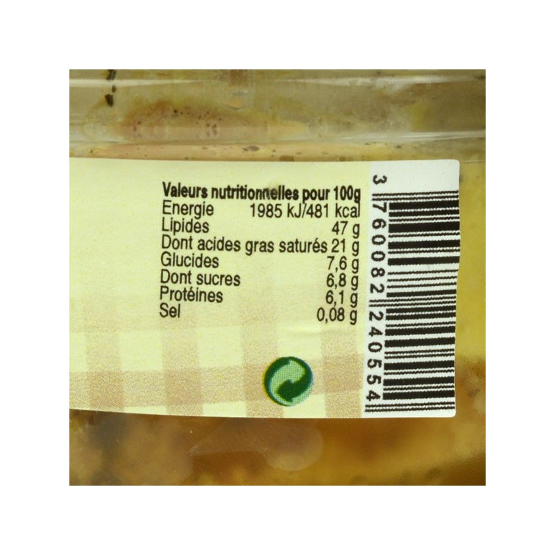 Foie gras de canard entier mi-cuit au vin de Jurançon - 120 gr