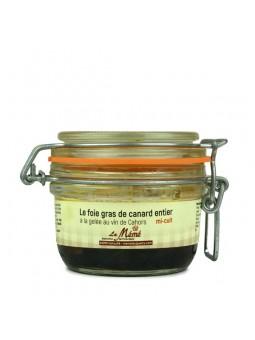 Foie gras de canard entier mi-cuit au vin de Cahors - 120 gr