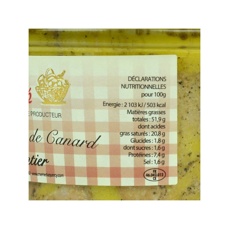 Foie gras de canard entier - 500 gr