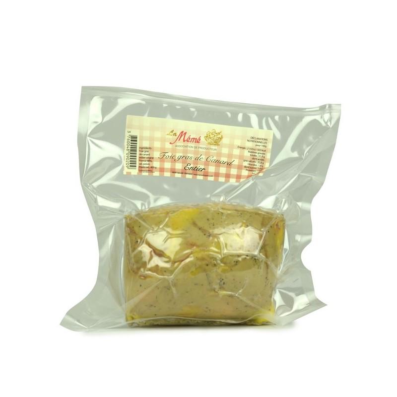 Foie gras de canard entier sous vide - 400 gr