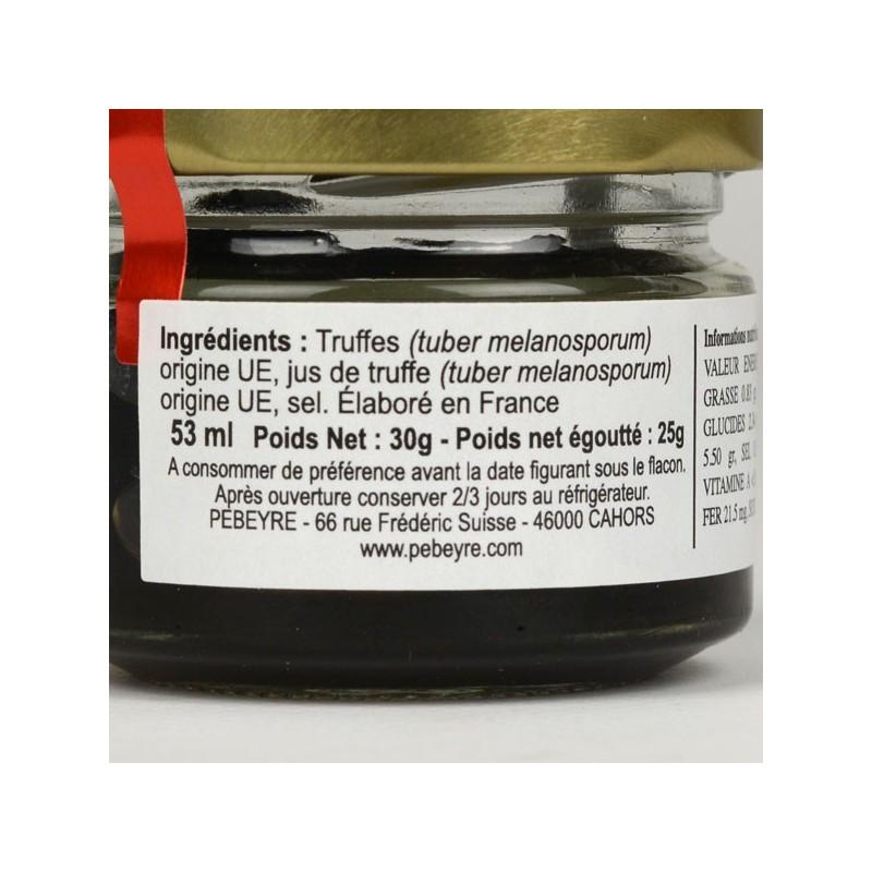 Truffe noire Brossée 1er choix - 25 gr