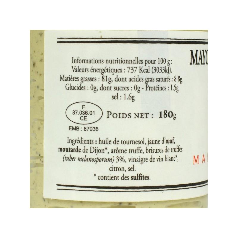 Mayonnaise aux truffes noires 3% - 180 gr