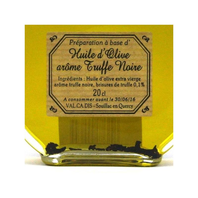Huile d'Olive arôme truffe noire - 20 cl