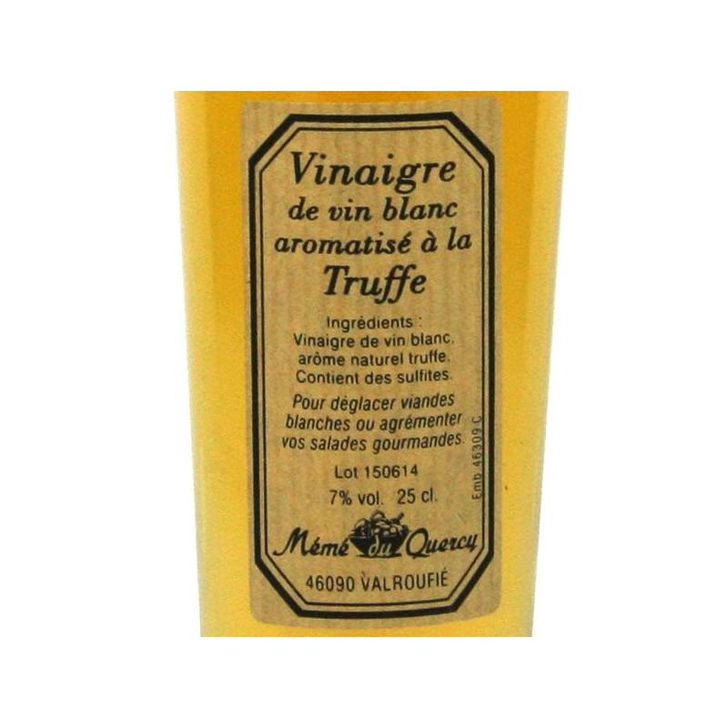 Vinaigre de vin blanc aromatisé à la truffe - 25 cl