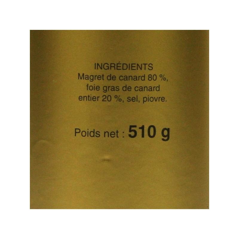 Magret Fourré au Foie Gras de Canard Entier - 510 gr