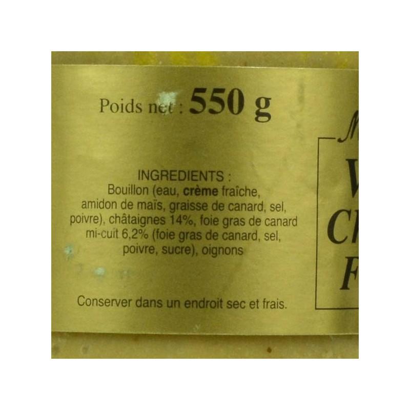 Velouté Châtaigne Foie Gras - 550 gr