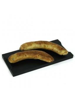 Saucisse de canard au foie gras dorée au four