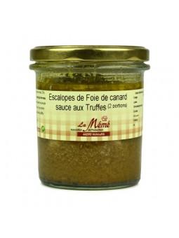 Escalopes de foie gras de canard sauce aux truffes Mémé du Quercy