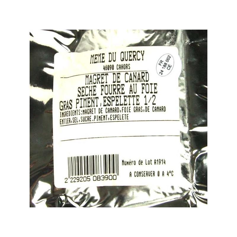 1/2 magret séché au foie gras au piment d'Espelette - 200 gr