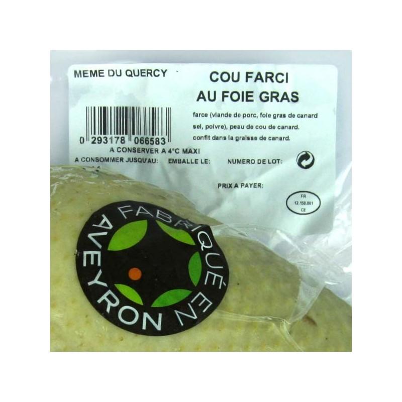 Cou farci au foie gras frais - 300 gr