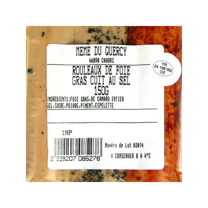 Rouleaux Foie gras de Canard au sel Mémé du Quercy