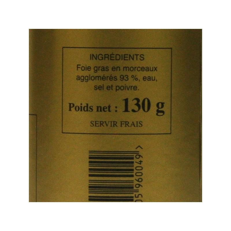 Bloc de foie gras d'oie - 130gr