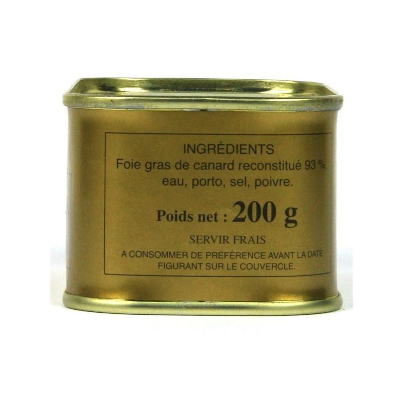 Bloc de foie gras de canard - 200 gr