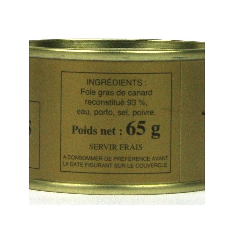 Bloc de foie gras de canard - 65 gr