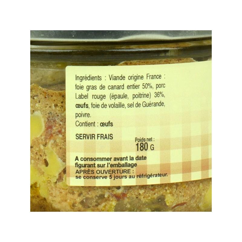 Pâté de la mémé 50% foie gras - 180gr