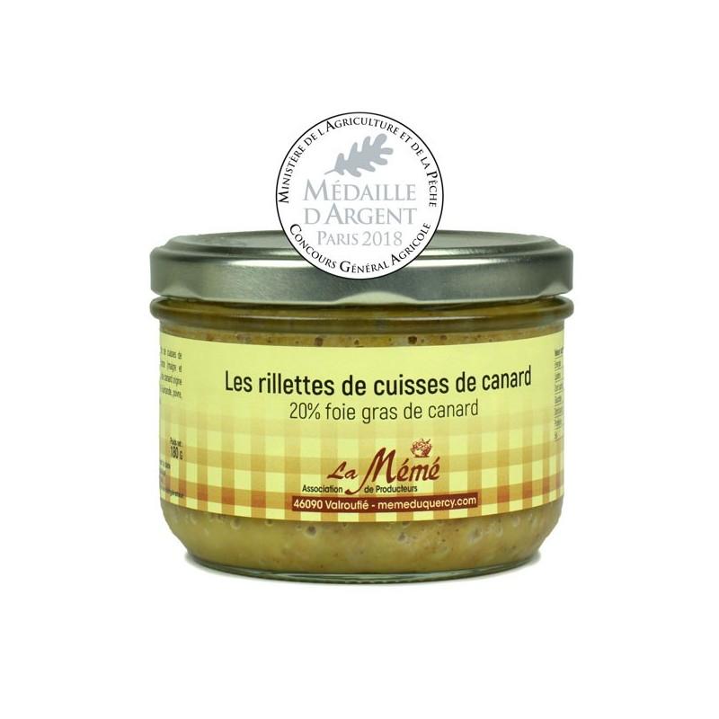 Rillettes de cuisses de canard au Foie gras 20% foie gras