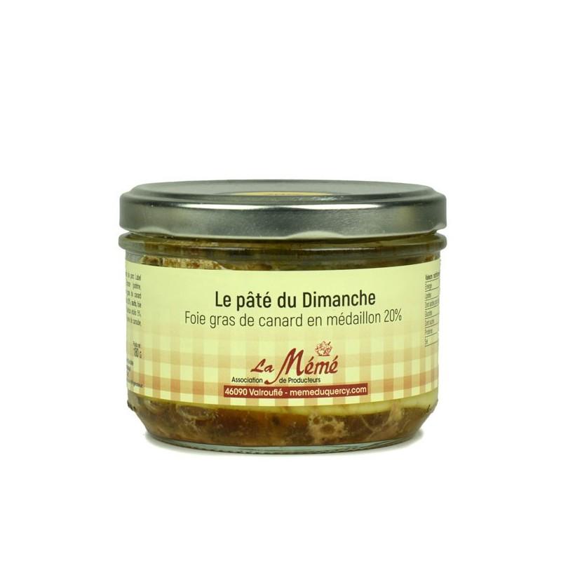 Paté du Dimanche 20% foie gras Mémé du Quercy